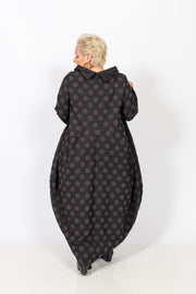 Black and Brown Polka Dots Dress