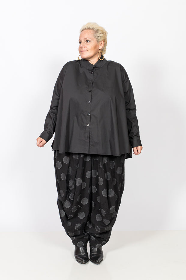 Hi-Low Cotton  Black Blouse