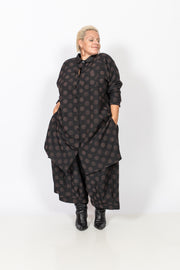 Brown Polka Dot Shirt Dress/Tunic