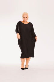 Little Black Cocoon Dress