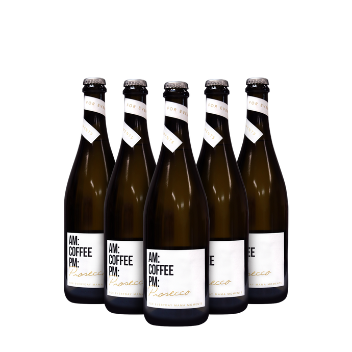 AM: COFFEE PM: Prosecco – 6PK + Free Postage