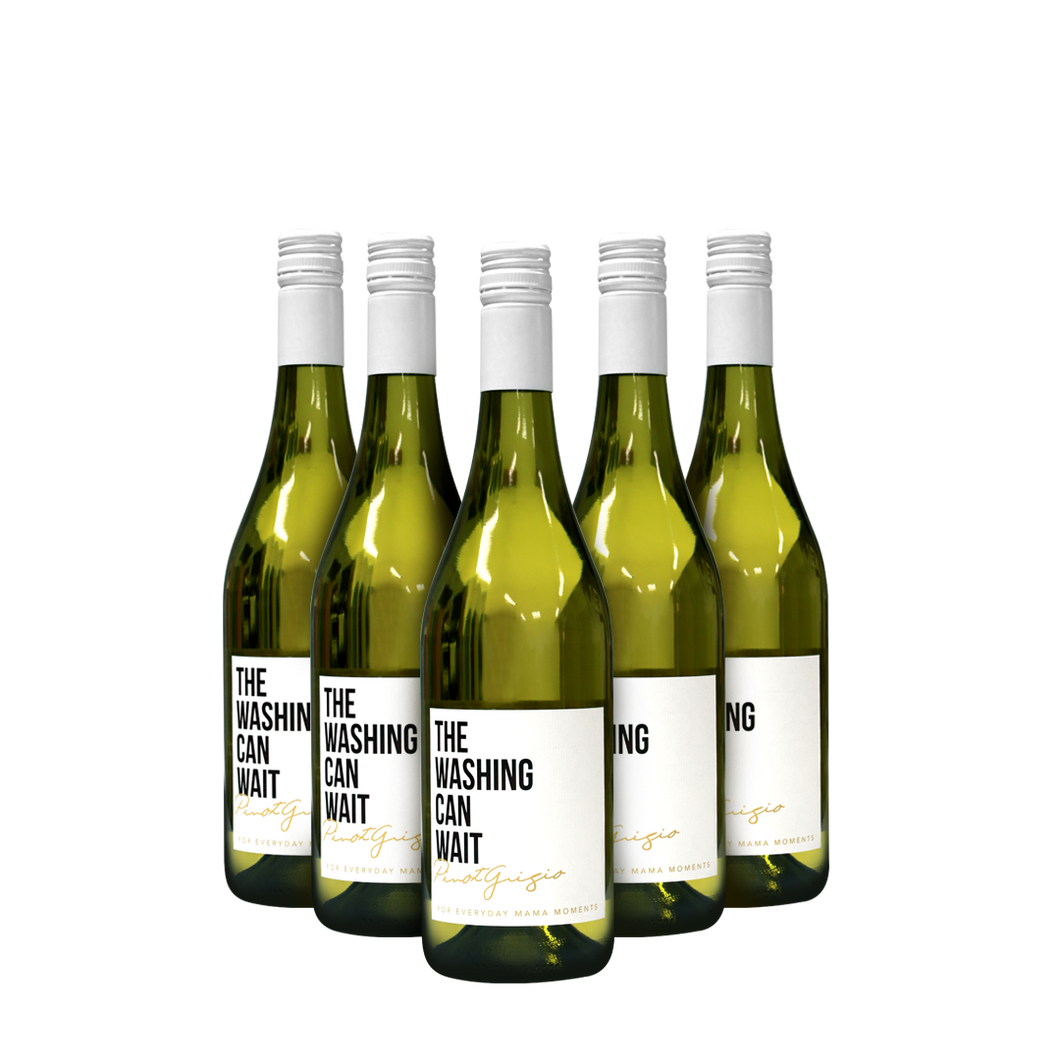 THE WASHING CAN WAIT Pinot Grigio - 6PK + Free Postage