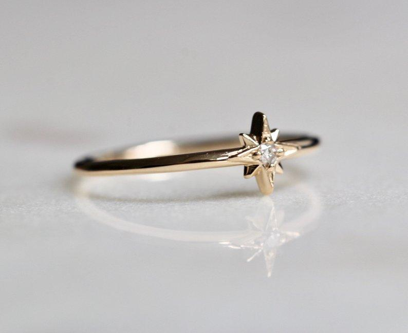 """North Star"" Astrology Ring"