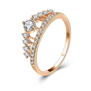 Zirconia Crown Bridal Ring