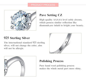Sterling Silver Claw Cubic Zirconia