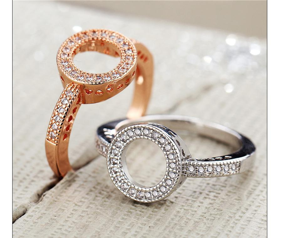 Cubic Zirconia Crystal Ring (HK-Outlets)