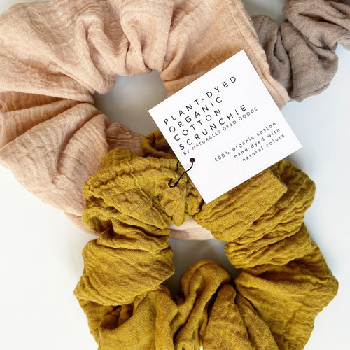 Oversized Plant-Dyed Organic Cotton Scrunchie