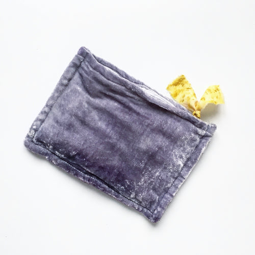Botanically-dyed Silk Velvet Pouch, Pacific