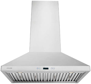 CAVALIERE Range Hood Wall Mounted Stainless Steel Kitchen Vent
