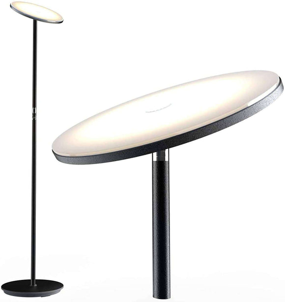 LED Floor Lamp, Bright Lighting Torchiere Floor Lamps for Living Rooms, Bedrooms and Office with Modern Design and Touch Control Tall Standing Pole Light, 30w/2000LM, 3000K Warm White