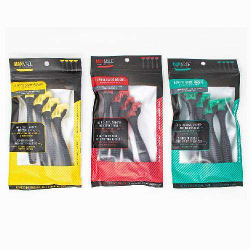 PACK OF 4 TRIPLE BLADE RAZOR