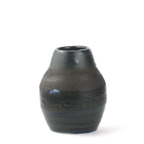 Blue and Black Crackle Vase