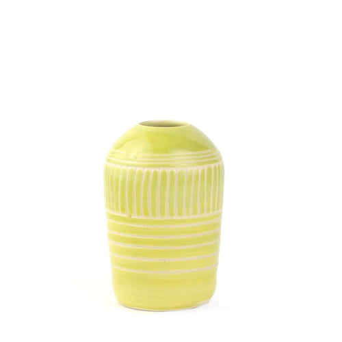 Chartreuse Linear Vase