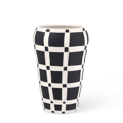 Plain Grid Medium Vase
