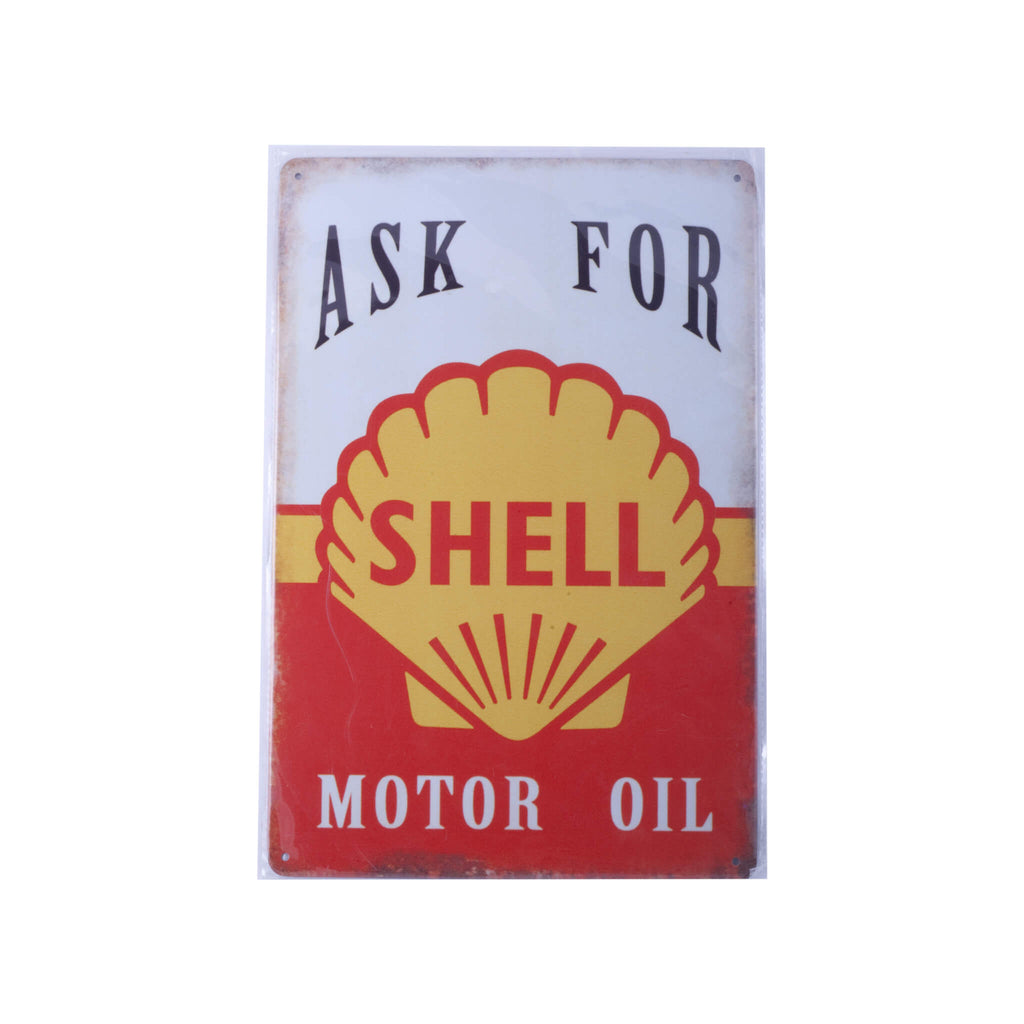 Shell Motor Oil - Tin Wall Plaque Accessory