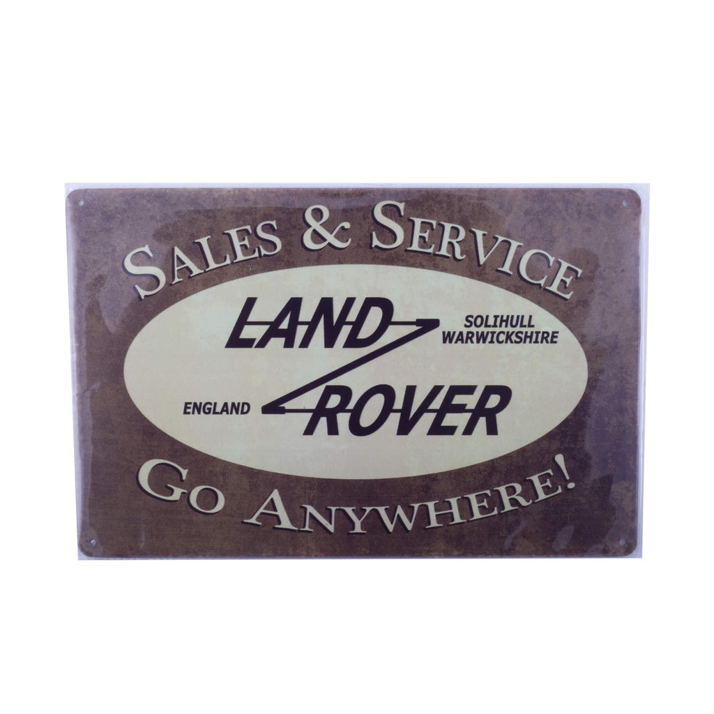 Land Rover Sales And Service - Tin Wall Plaque Accessory