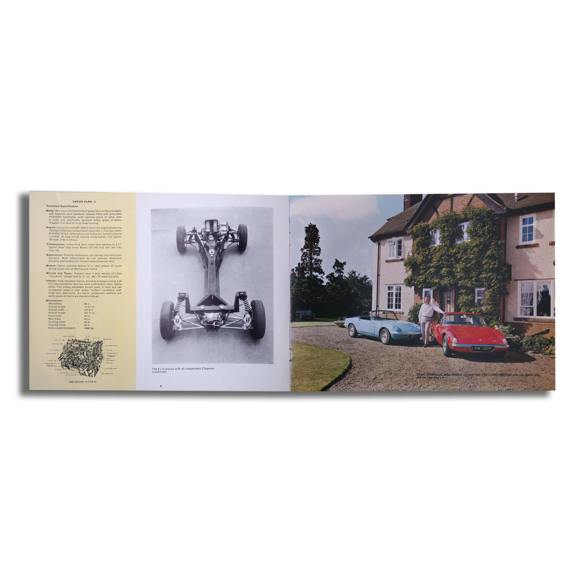 Lotus Elan Plus 2 Original Sales Brochure Brochure