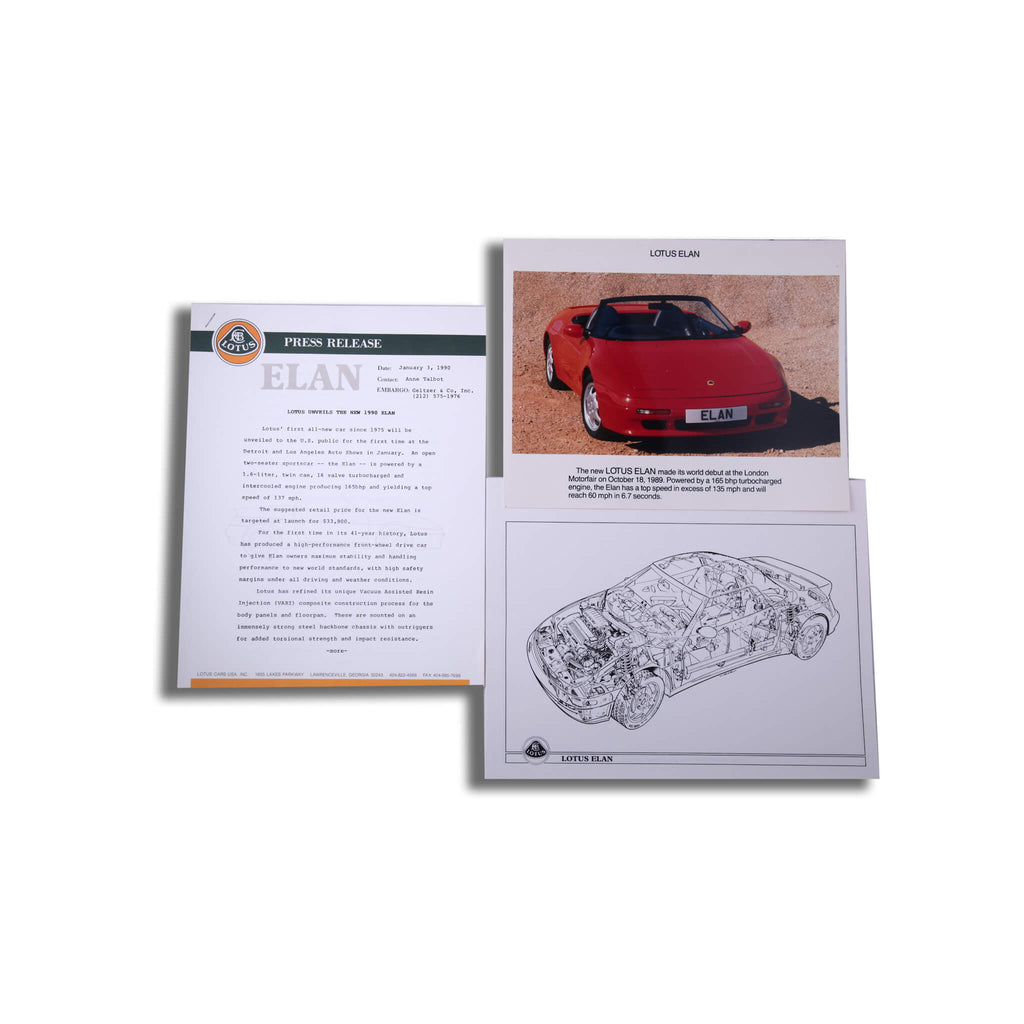 Lotus Elan M100 Original Press Pack Brochure