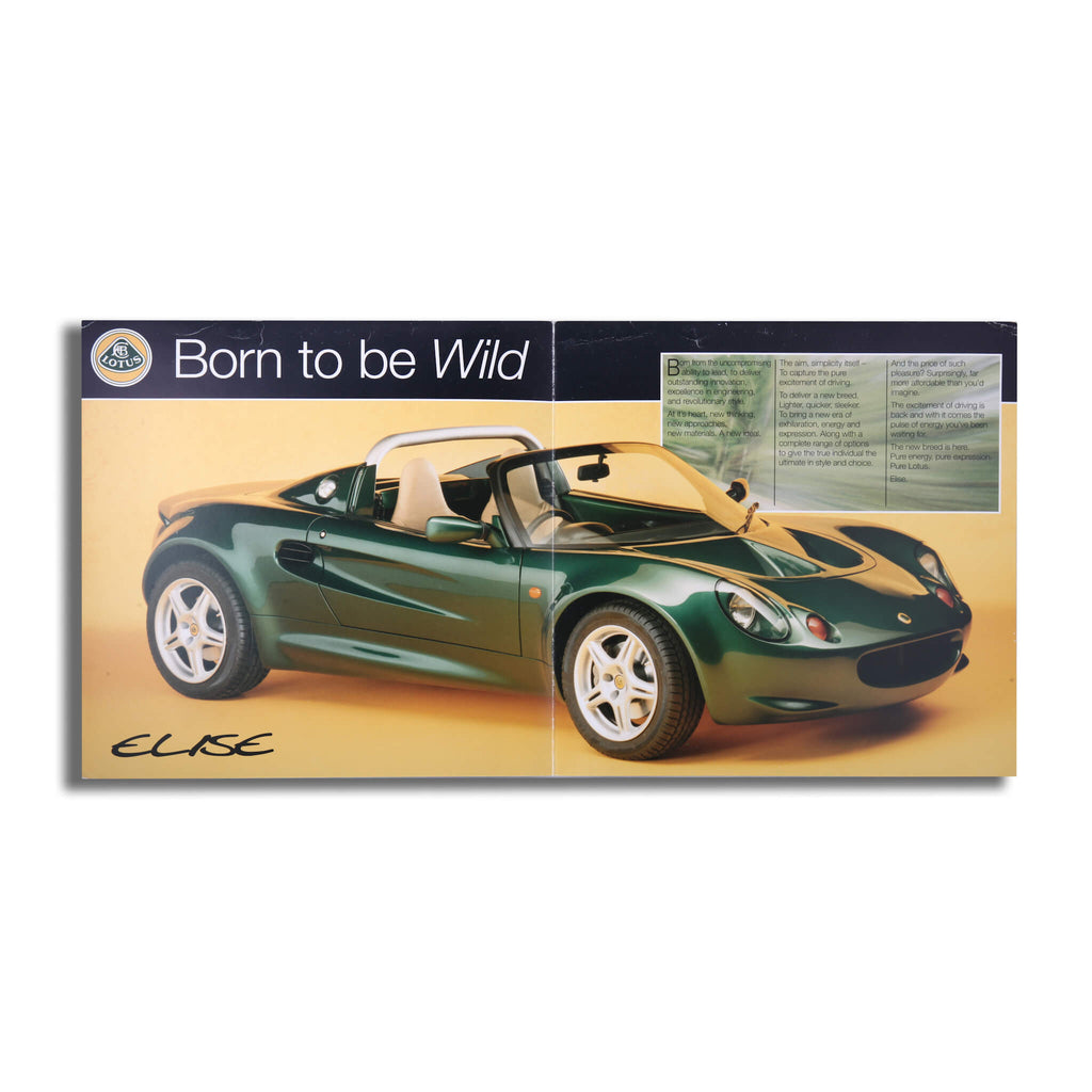 Lotus Elise Original Sales Brochure Brochure