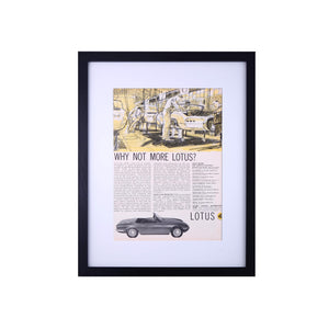 Original Lotus Elan Advertisements Road & Track Magazine Print