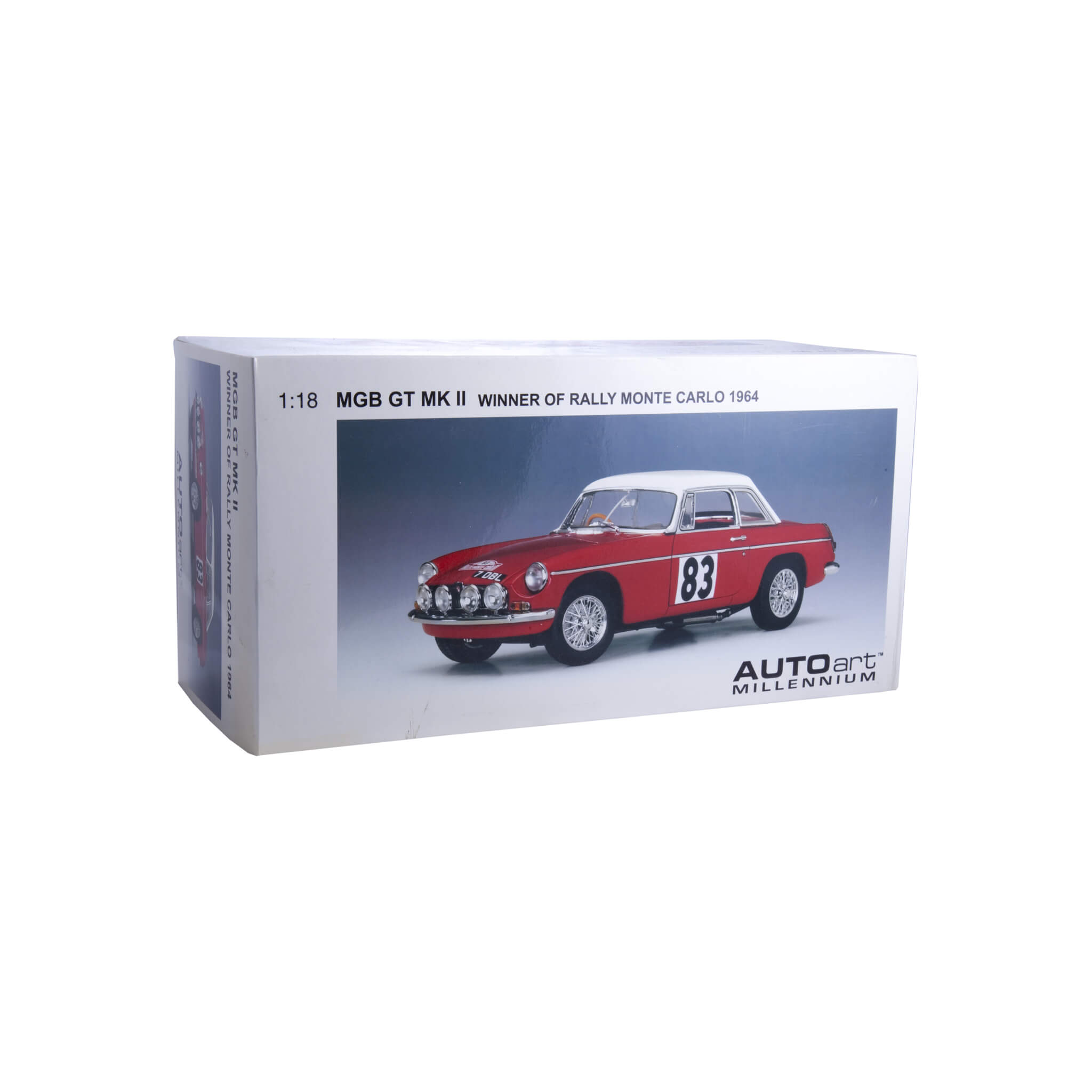 1964 MGB Mk.II #83 Rally Monte-Carlo 1:18 by Auto Art
