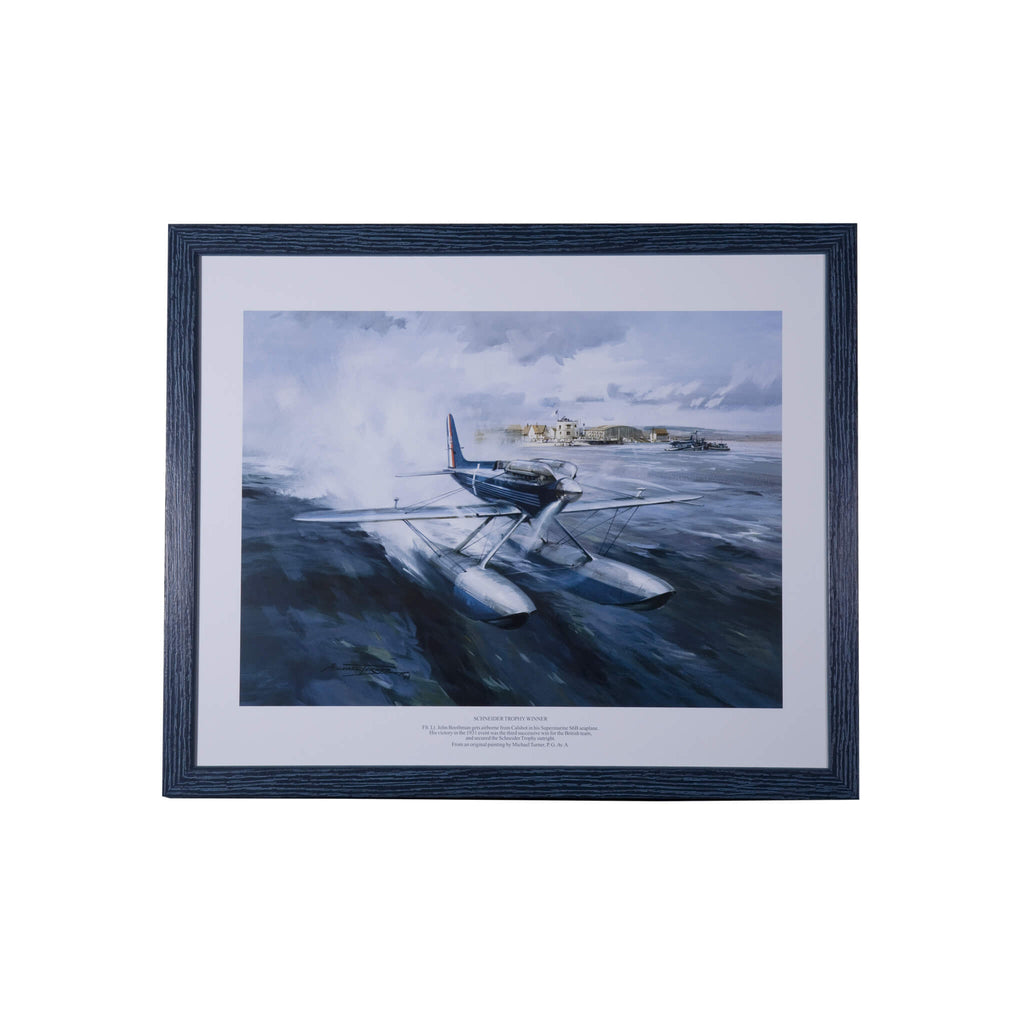 Schneider Trophy Winner Supermarine S.6B - framed print by Michael Turner