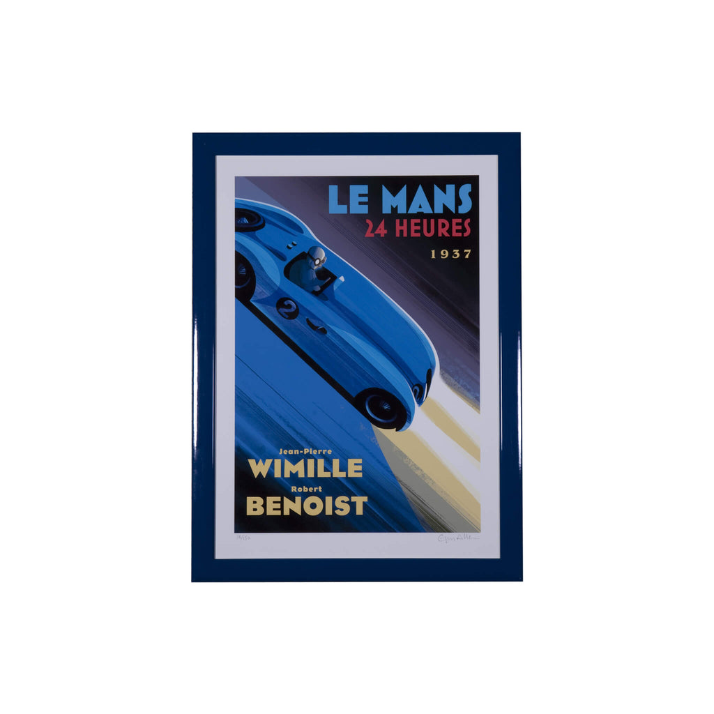 Le Mans 24 Heures 1937 - framed print by Guy Allen