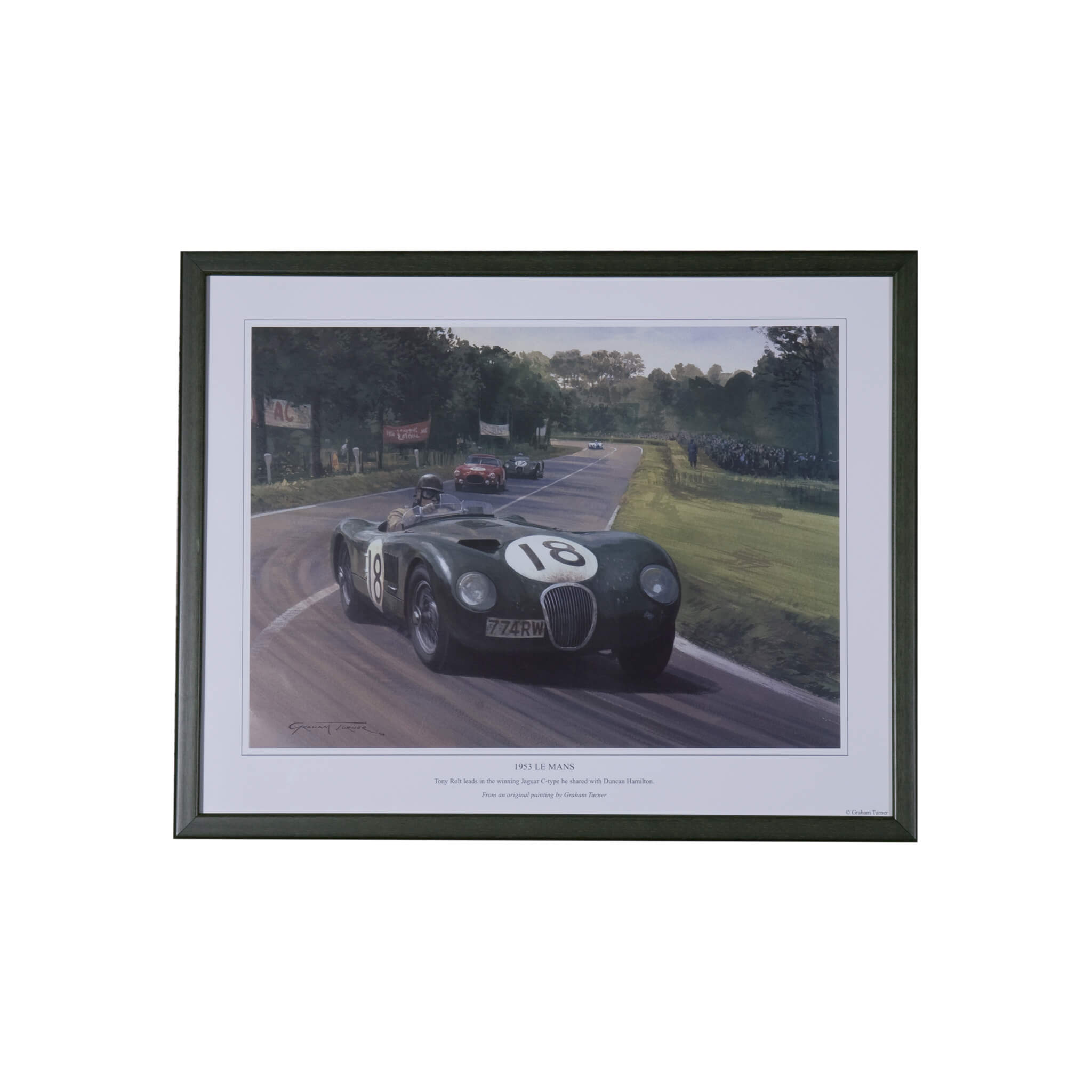 1953 Le Mans winning C-type Jaguar - framed print by Michael Turner