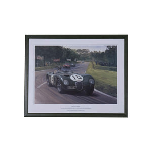 1953 Le Mans Winning C-Type Jaguar - Framed Print By Michael Turner Print