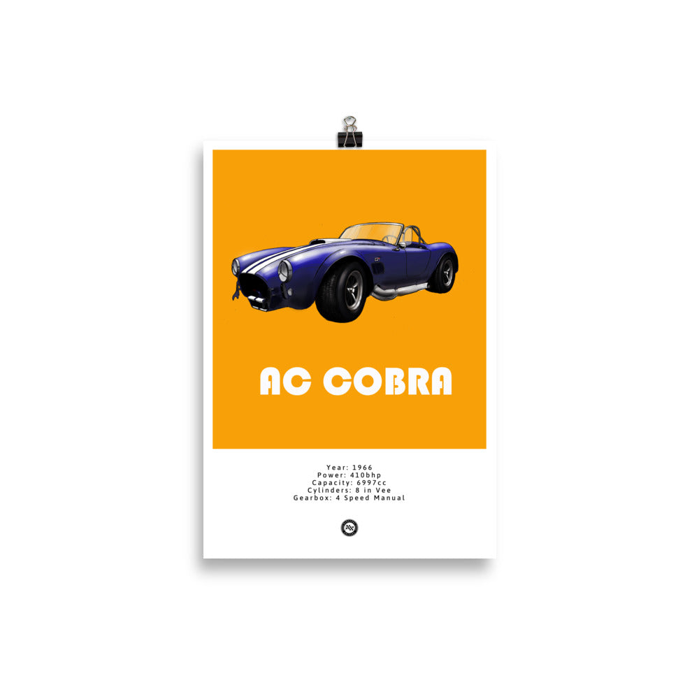 Ac Cobra 427 Original Poster Orange Poster