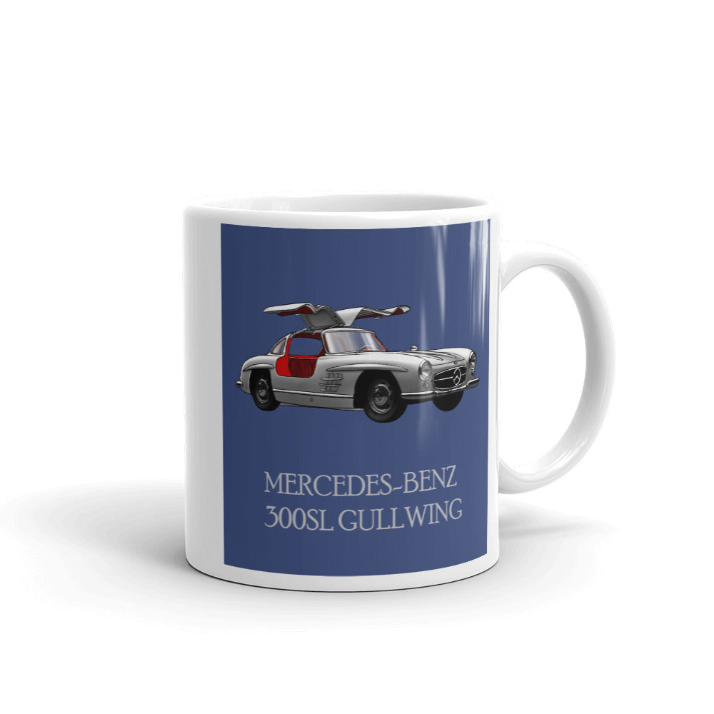 Mercedes 300SL Mug Blue