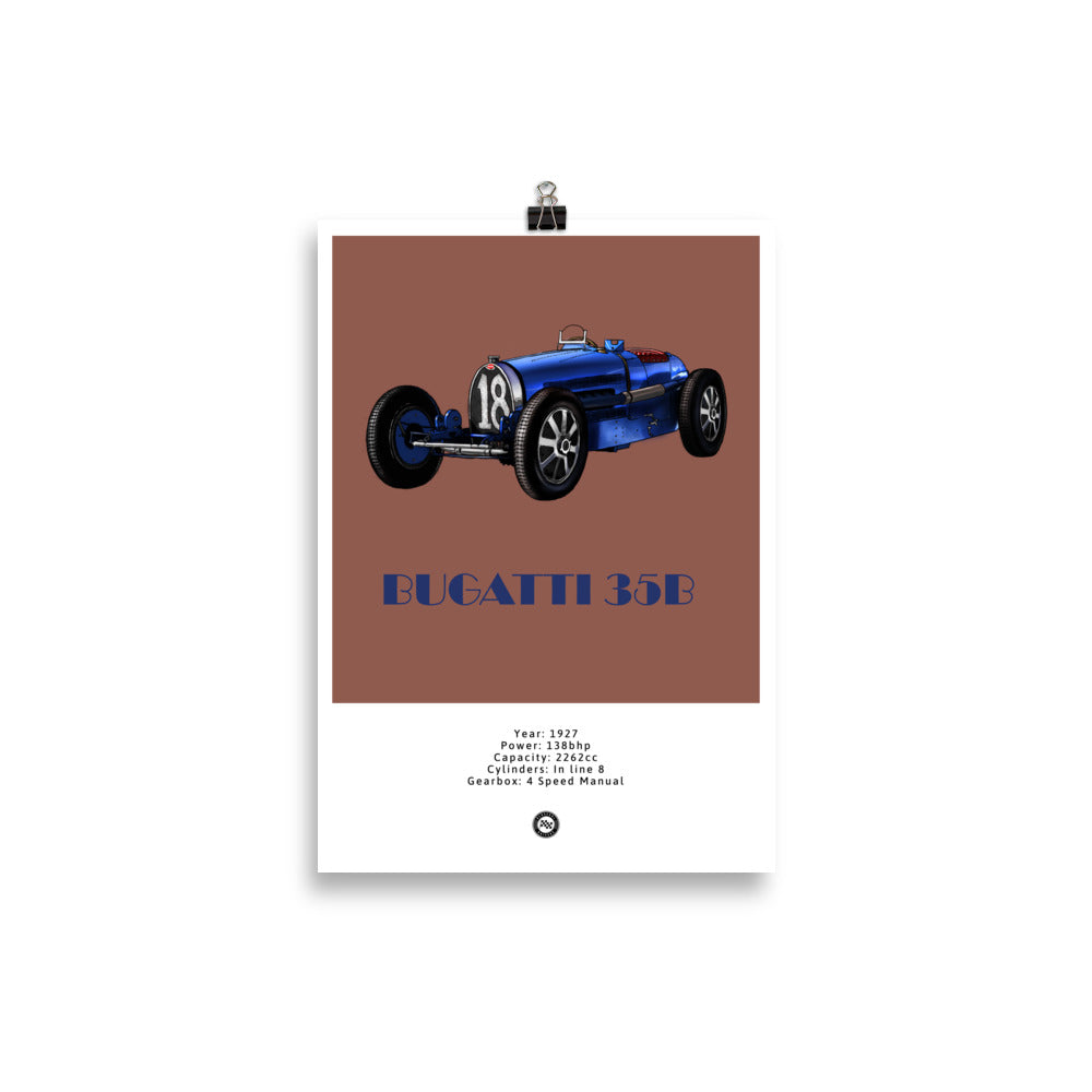 Bugatti Type 35B Original Poster Copper Poster