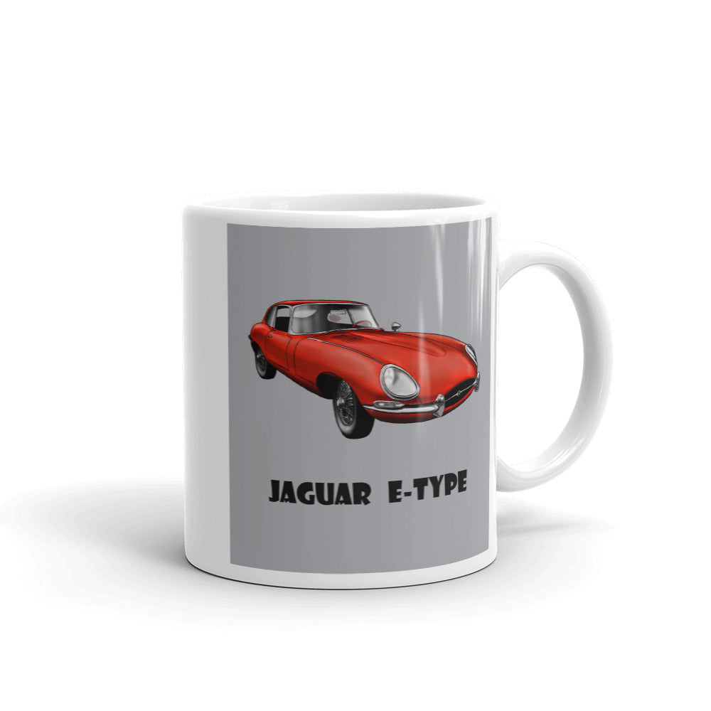 Jaguar E-Type Mug Grey