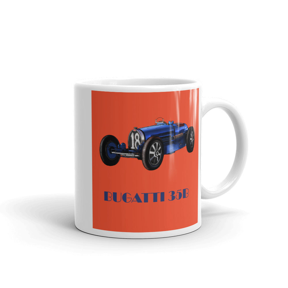 Bugatti Type 35B Mug Orange