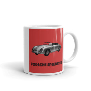 Porsche 356 Speedster Mug Red