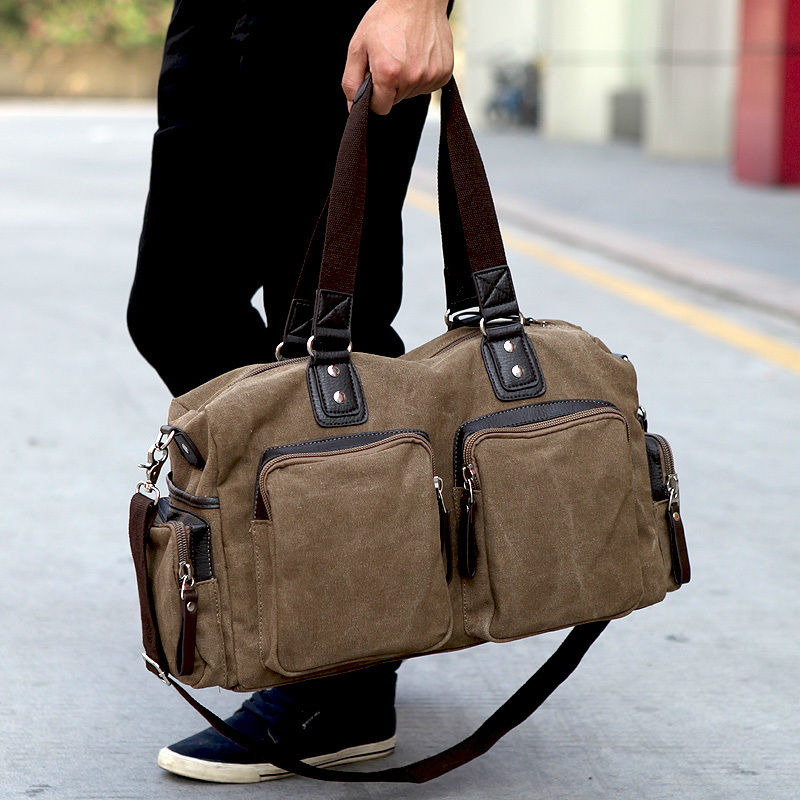 Military Canvas Overnight Bag