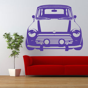 Classic Mini Cooper Vinyl Wall Sticker