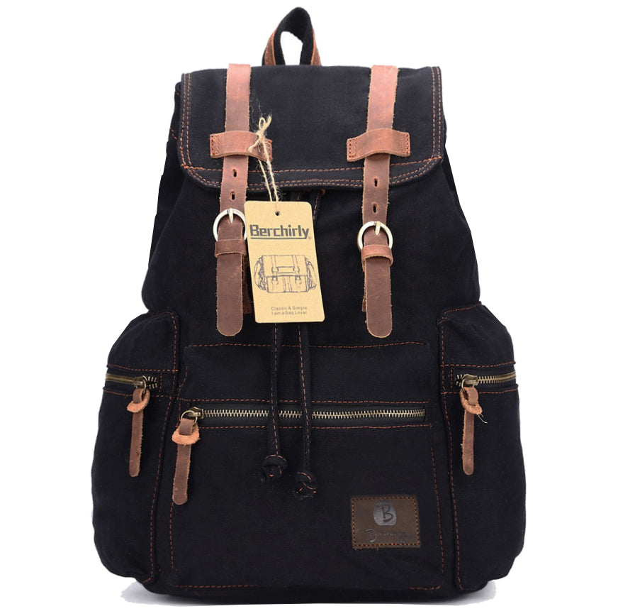 Vintage Leather Military Backpack
