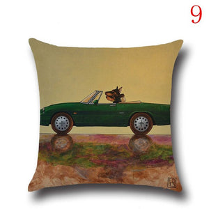 Vintage Car Cushion Cover