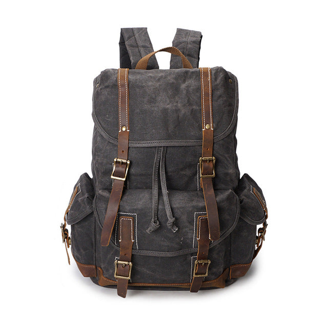 Waterproof Military Canvas Backpack