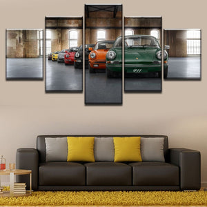 5 Piece Porsche 911 Evolution Poster