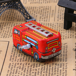 Vintage Fire Truck Wind Up Toy