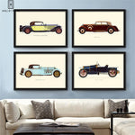 Vintage Car Paintings