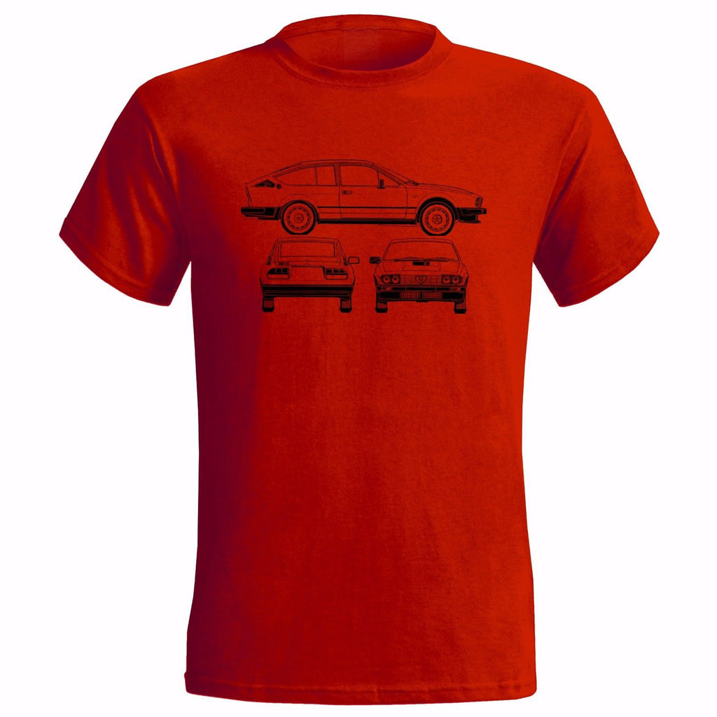 Alfa Romeo Gtv6 1986 Technical Drawing T-Shirt