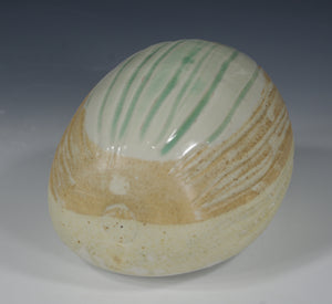 Dinosaur Egg 6 - Ceramic Sculpture by Skip Bleecker