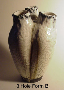 3 Hole Form - Ceramic Sculpture by Skip Bleecker