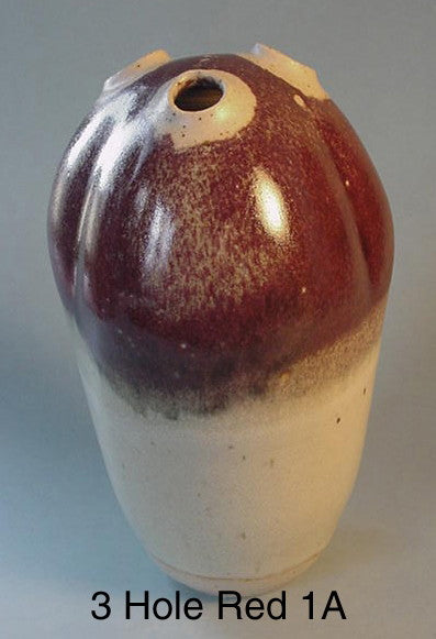 3 Hole Red 1 - Ceramic Sculpture by Skip Bleecker