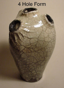 Four Hole Form - Ceramic Sculpture by Skip Bleecker