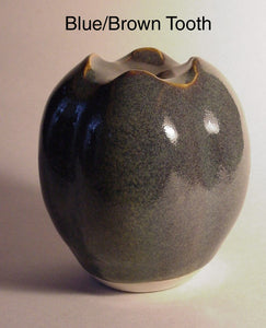 Blue Brown Tooth - Ceramic Sculpture by Skip Bleecker