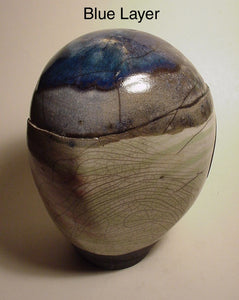 Blue Layer - Ceramic Sculpture by Skip Bleecker